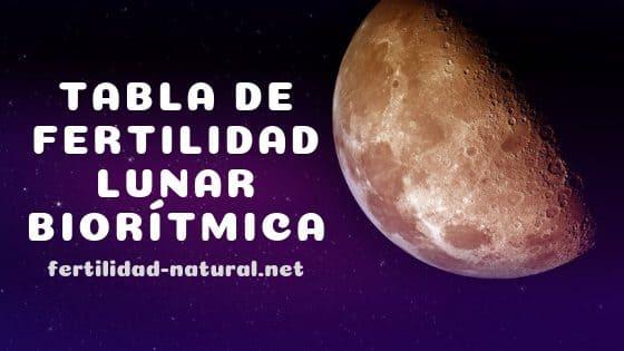 ciclo fertilidad lunar